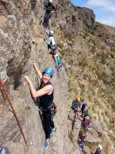 lead climbing course