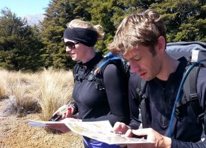 Map reading on a bush craft course with OENZ-Outdoor Education New Zealand