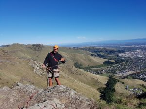 learning to rock climb with OENZ- Outdoor Education New Zealand New Zealand