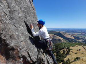 learning trad climbing in new zealand